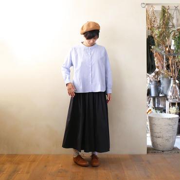 コードレーンワイドブラウス・細ブルーストライプ【レディス】