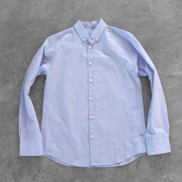 コットンリネンシャツ blue【ユニセックス】