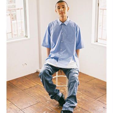 kudos /  Slit Typewriter Shirt - BLUE