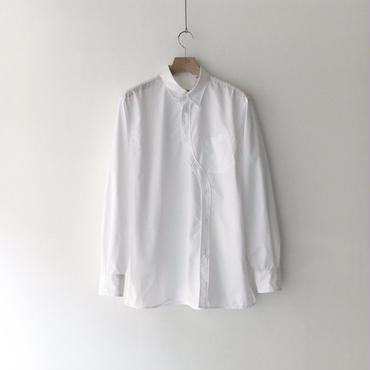 kudos / Curvy Typewriter Shirt - WHITE