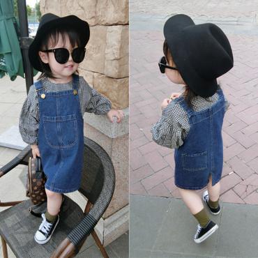 kids★denim  jumper skirt