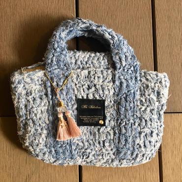 編み込みデニムトートバッグ