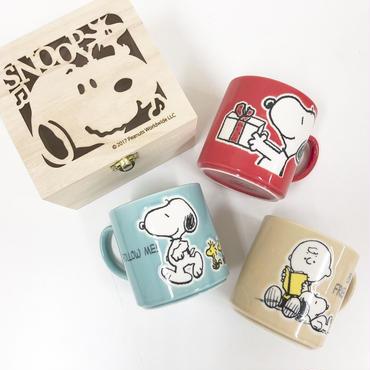 【SNOOPY】カラフルピーナッツ木箱入りマグ