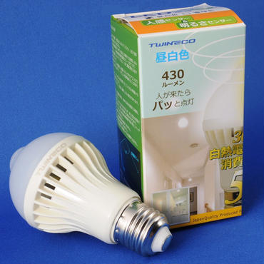 TEAX-E26-SP5W-W(ツインエコ。LED電球。人感センサー内蔵。昼白色。)