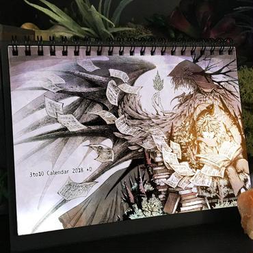 2018年卓上カレンダー(24枚めくり) 3to10 Calendar 2018  [+D]