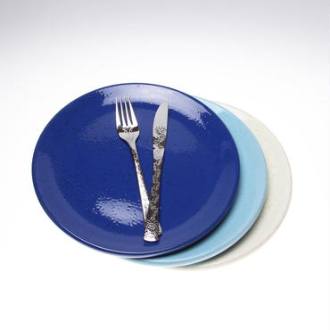 【ブルー26㎝】ぽってりと温もりのあるイタリアトスカーナのお皿