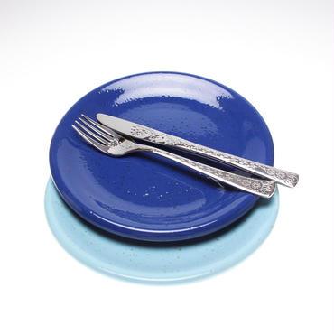 【ブルー21㎝】ぽってりと温もりのあるイタリアトスカーナのお皿