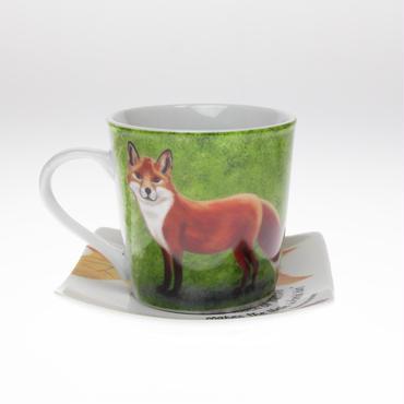 動物シリーズ「キツネ」のカップ&ソーサー