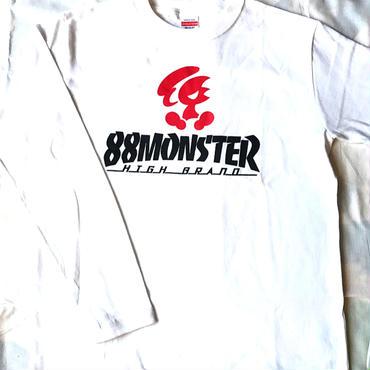 2017年モデル  メインロゴ ロンT  白