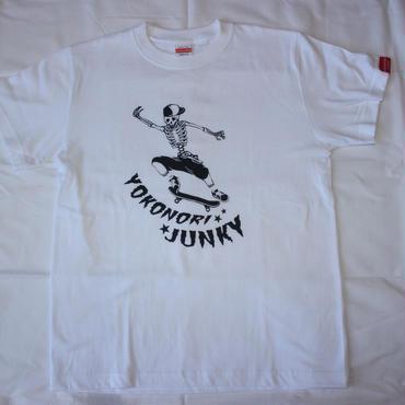 スカルスケーター Tシャツ 白/黒