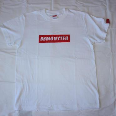 88MONSTER ボックスロゴT 白