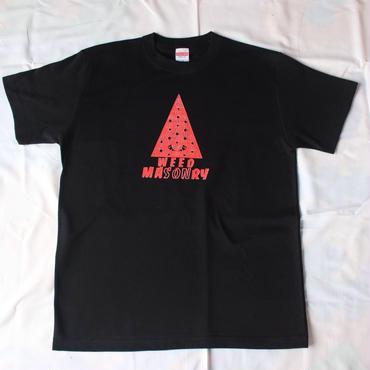 WEED MASONRY  Tシャツ  黒/赤