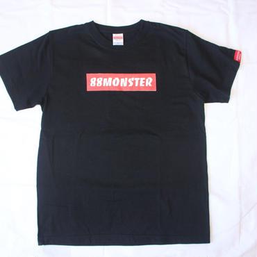 88MONSTER ボックスロゴ Tシャツ 黒