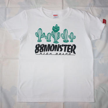 SABOTEN Tシャツ白/緑