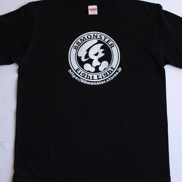 メインロゴTシャツ  黒/白
