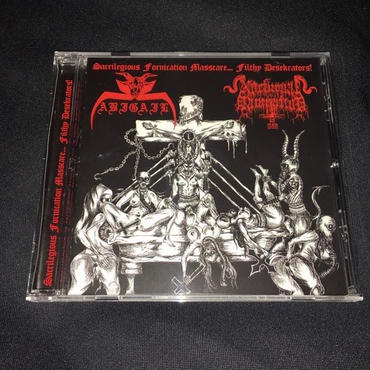 "Abigail ""Sacrilegious Fornication Massacre... Filthy Desecrators"" Split CD with Nocturnal Damnation"