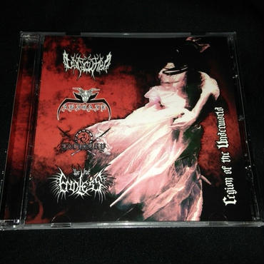 "Abigail 4 way split CD ""Region of the underworld"""