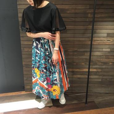 花柄ボイルロングスカート