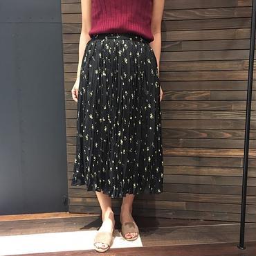 小花柄ハンドプリーツスカート