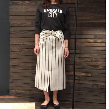 ウエストリボン ストライプ スカート