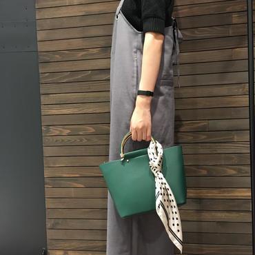 金手ハンドルスカーフ付きミニショルダーバッグ
