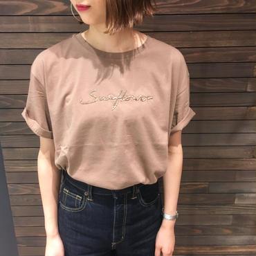 ビーズロゴ クルーネックTシャツ