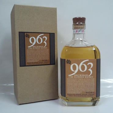 笹の川酒造「ファインブレンデッドウイスキー 963」モルト&グレーン 59% 700ml