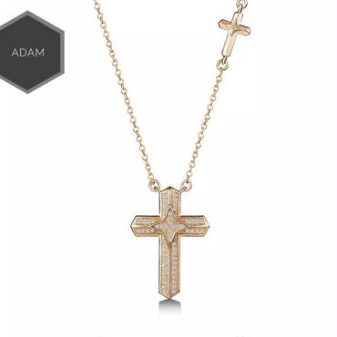 W cross necklace