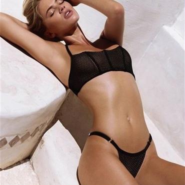 mesh black swimwear