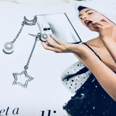 moon×star perl pierce
