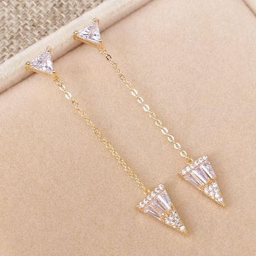 triangle stone chain pierce