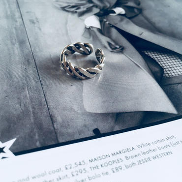 silver925 rope ring