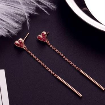 heart  long pierce
