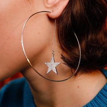 big hoop star pierce