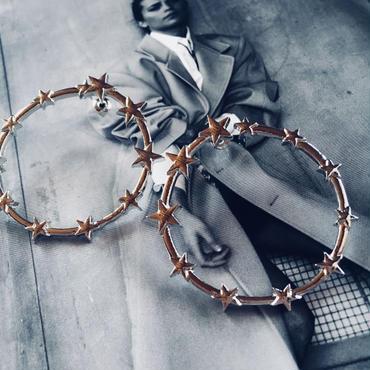 silver star hoop pierce