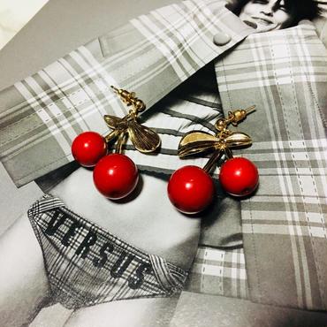 cherry pierce/earring