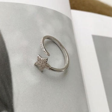 silver925 star ring