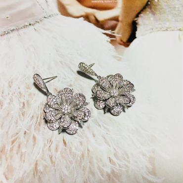 flower shine stone pierce