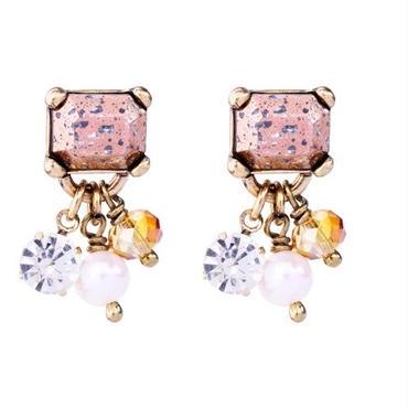 colorful stone square pierce
