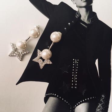 star × pearl 2way pierce