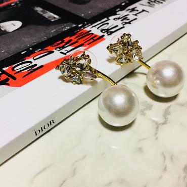 bijou × pearl 2way pierce