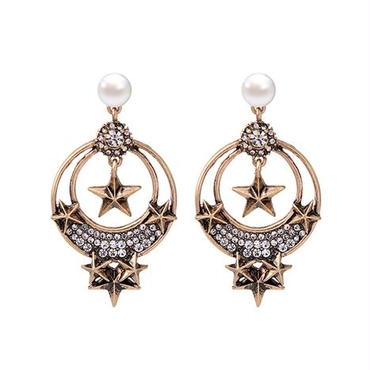 antique  star pearl  pierce