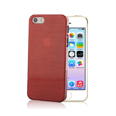 【SALE】iPhone5/5s スケルトンケース レッド