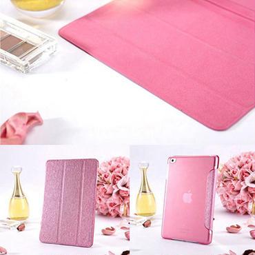 【SALE】iPad Air 対応 超薄型スケルトンケース付きオシャレなシルク柄スマートカバー