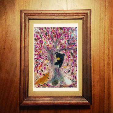ポストカード 「大きな栗の木の下で」