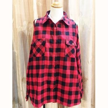 【HELLCATPUNKS】オープンショルダーシャツ