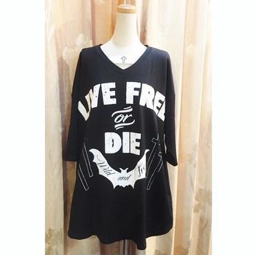 【HELLCATPUNKS】VネックビッグTシャツ