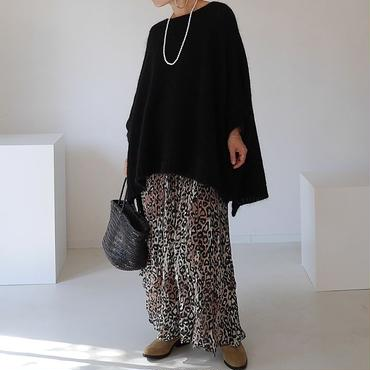 ※RESTOCK※KID MOHAIR WIDE COVER PULLOVER (BLACK)