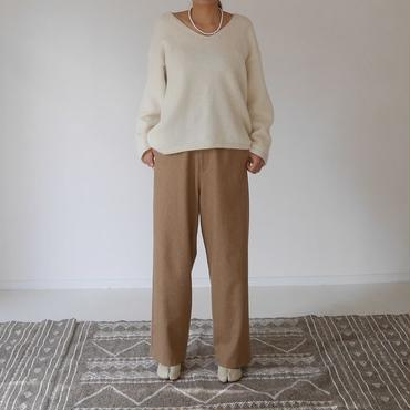 ※RESTOCK※WOOL FLANNEL MELLOW PANTS(CAMEL)