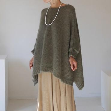 ※RESTOCK※KID MOHAIR WIDE COVER PULLOVER (CALM GREEN)